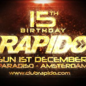 Rapido 15th Birthday Promo